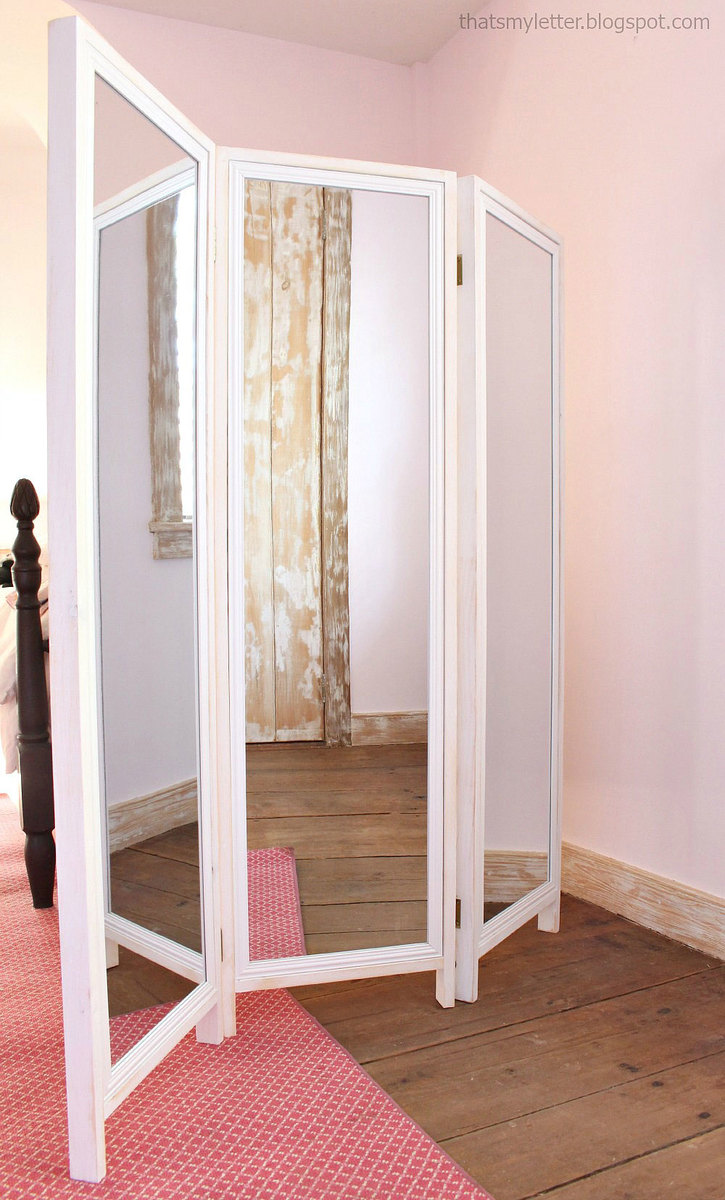 Ana White HOW TO Build a Mirrored Changing Screen with Pin Boards
