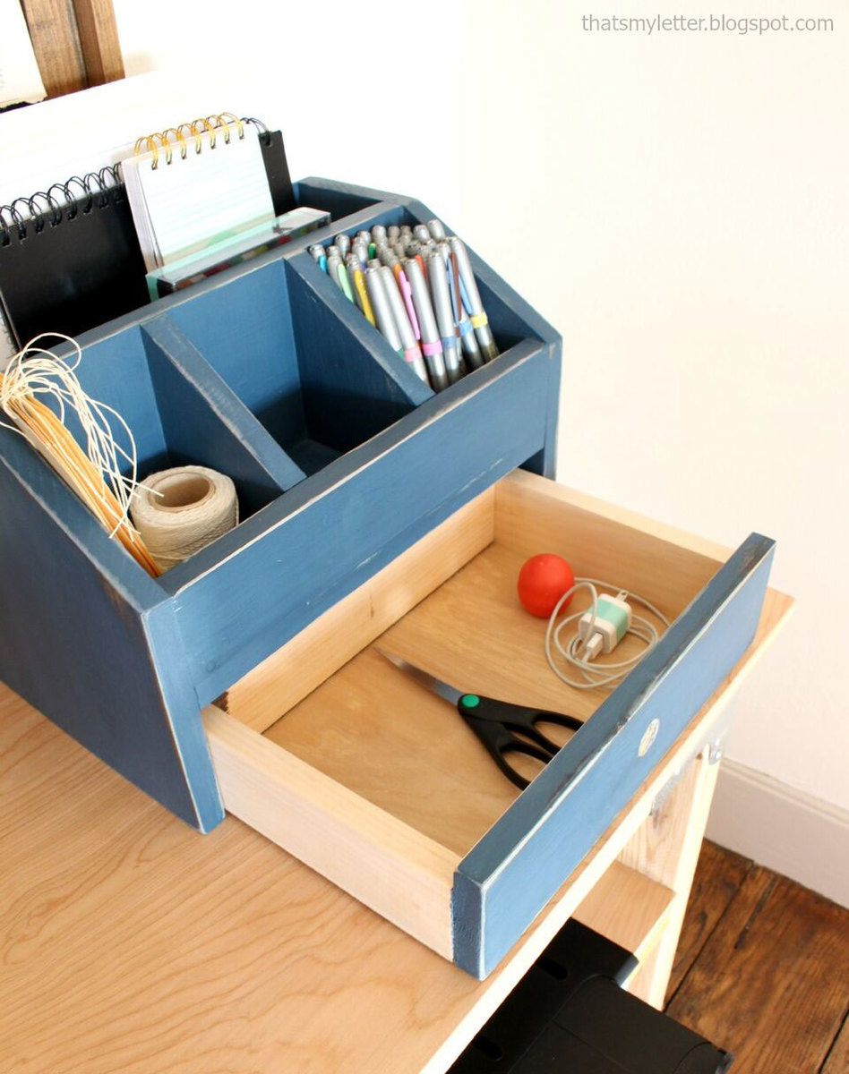 Desktop Office Or Vanity Beauty Organizer