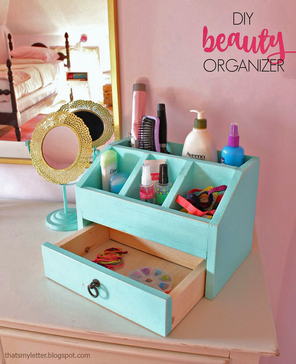 Use S Wood To Build A Desktop Or Vanity Organizer With Cubbies And Drawer