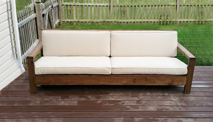 outdoor sofa with reclining back rest