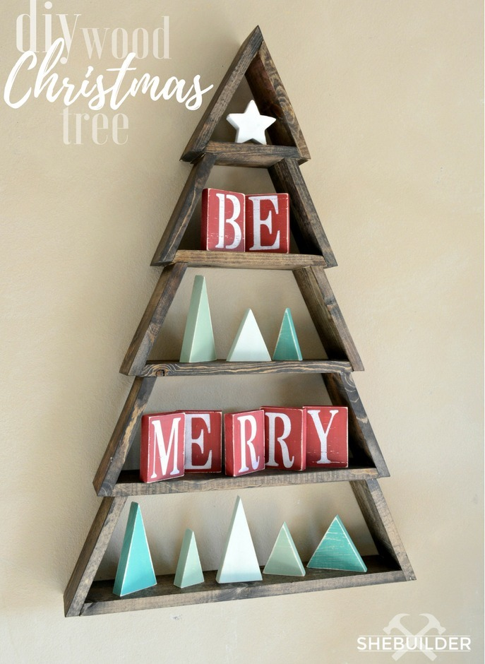 Ana white diy wood christmas tree projects