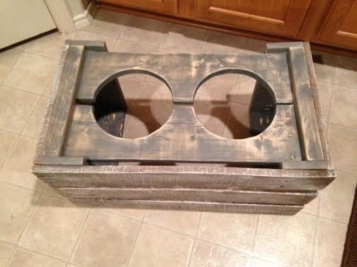 Ana White Pallet Wood Dog Bowl Stand Diy Projects
