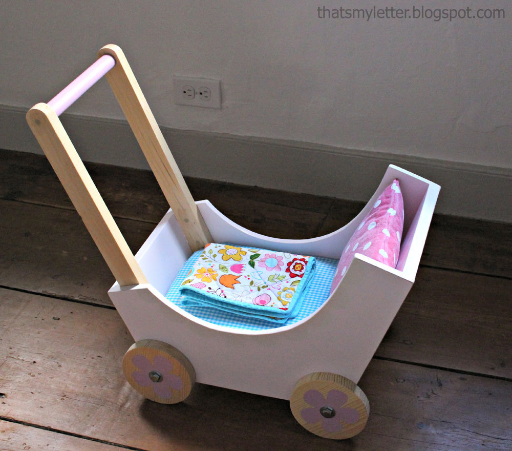 wood doll pram or stroller | ana white