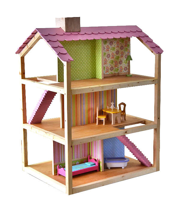 Ana white dream dollhouse diy projects for Diy home building plans