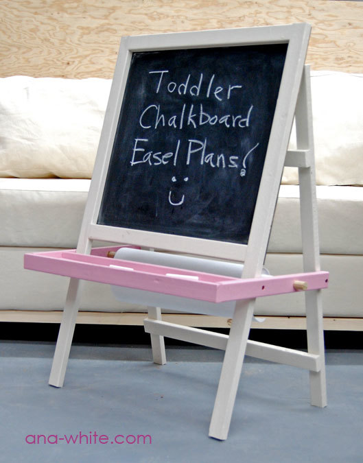 Ana white toddler chalkboard easel diy projects solutioingenieria Gallery