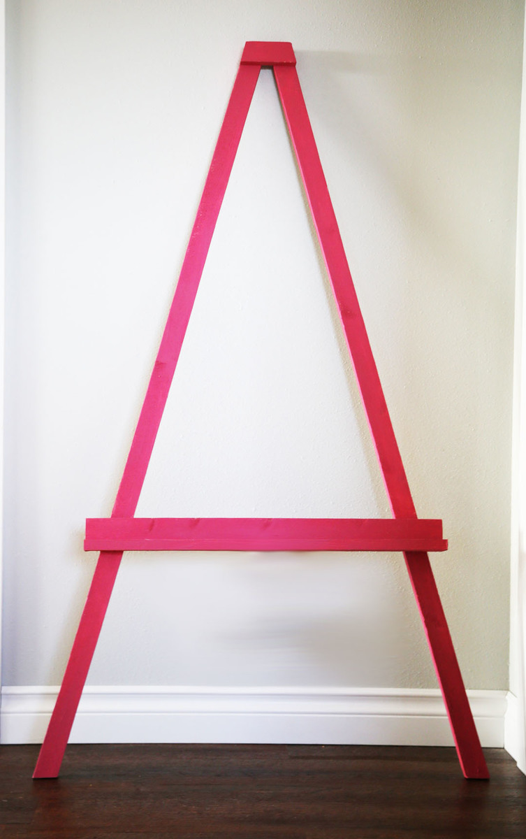 How To Build A Simple Leaning Art Easel For Kids