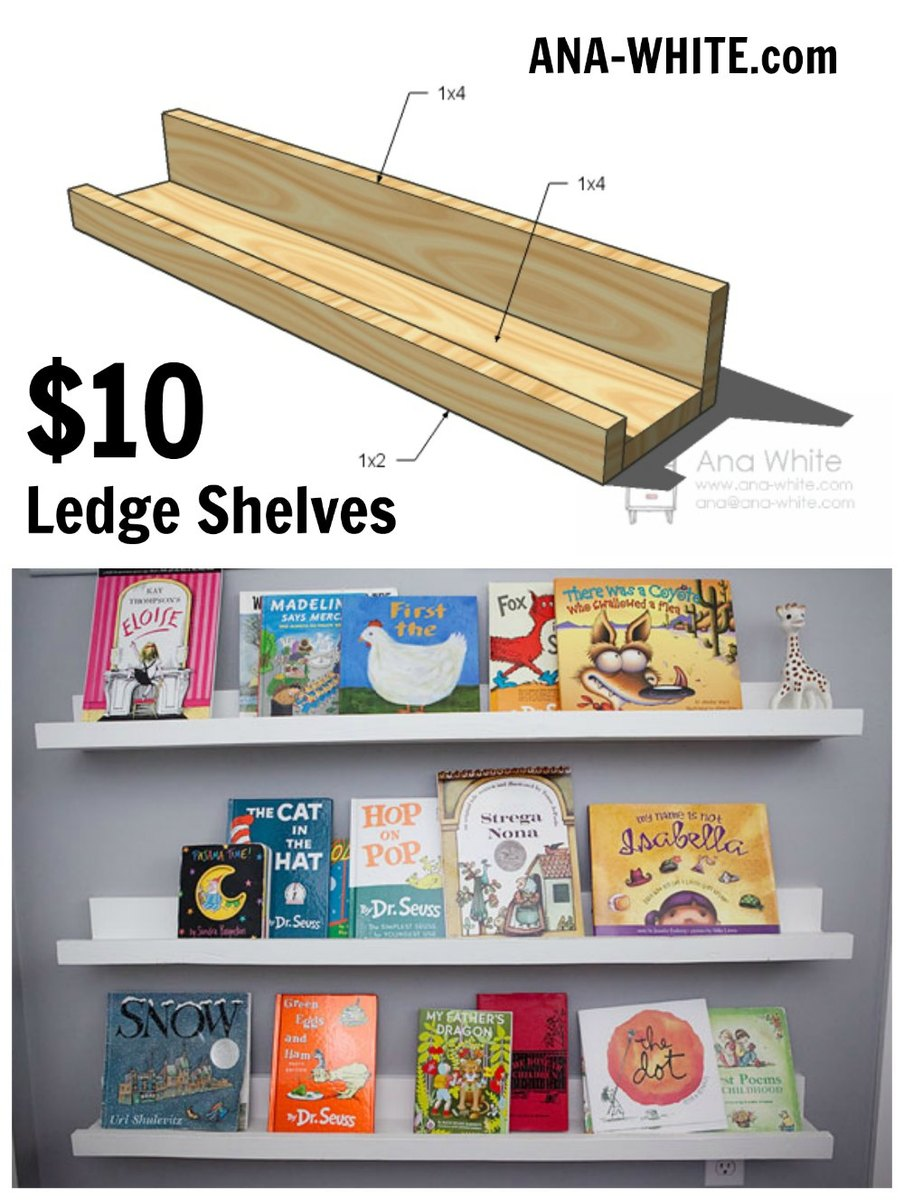Super Ten Dollar Ledges Ana White Home Interior And Landscaping Dextoversignezvosmurscom
