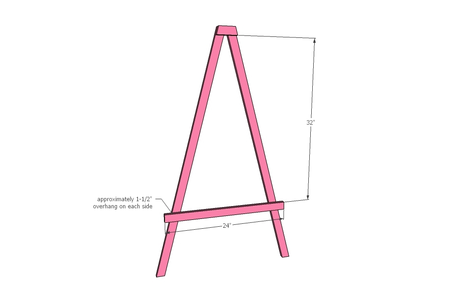 Ana White | Easy Leaning Kids Art Easel - DIY Projects