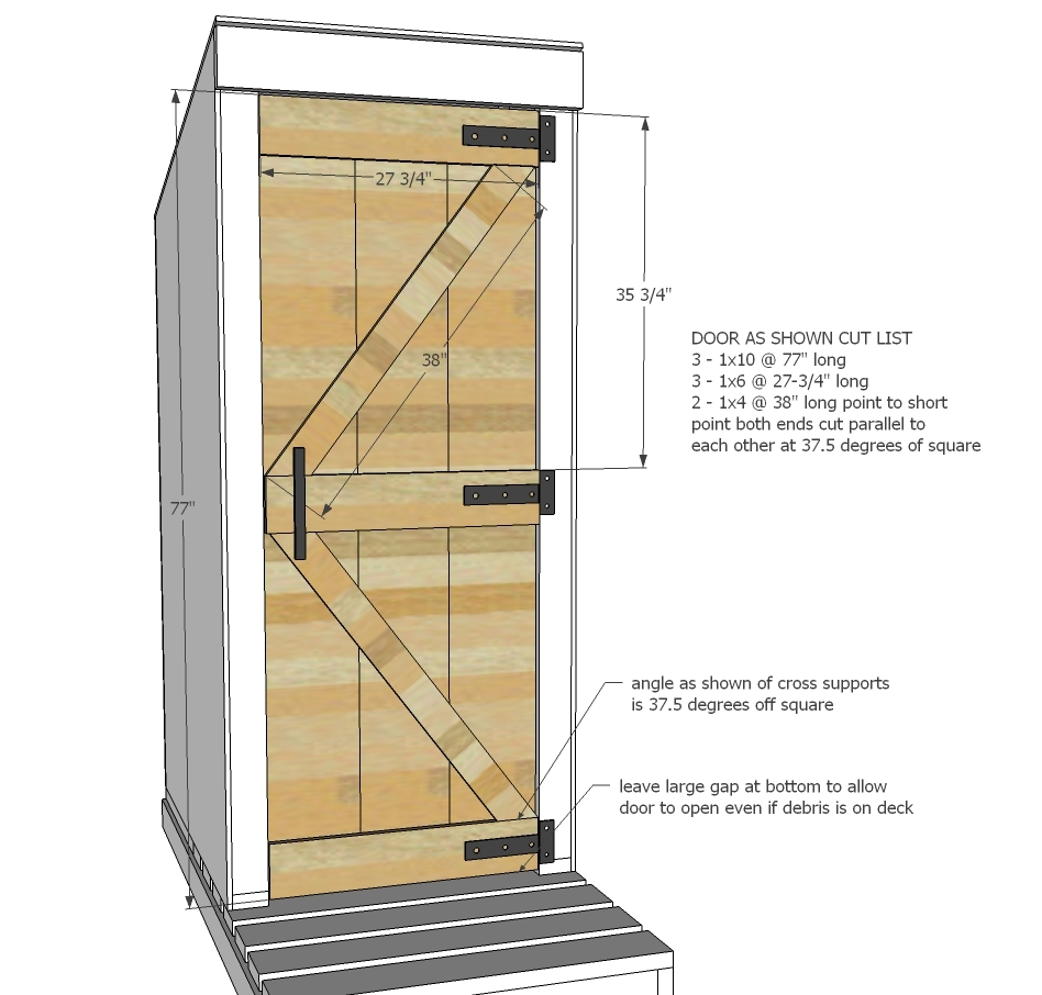 Ana white simple outhouse diy projects for Ways to cut cost when building a house