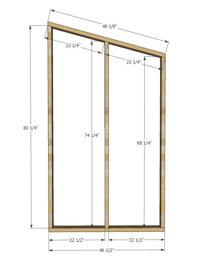 Ana white simple outhouse diy projects Free simple house plans to build