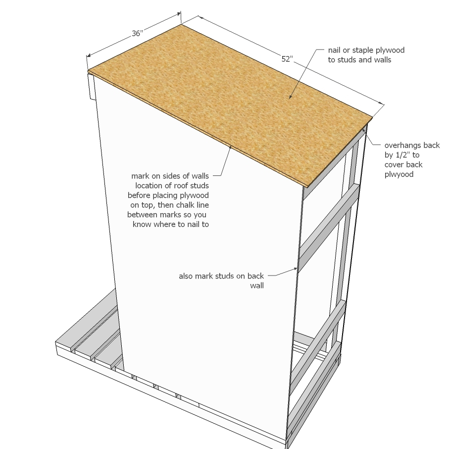 Ana white simple outhouse diy projects for Easy house plans free