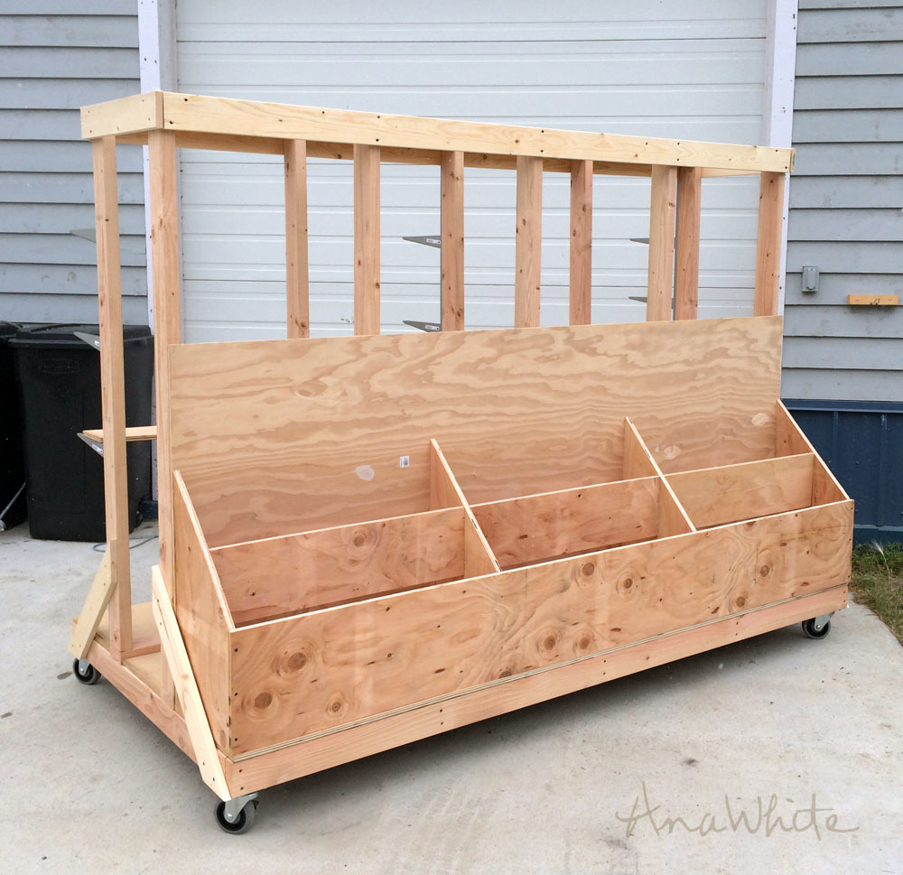 Ultimate Lumber And Plywood Storage Cart Ana White