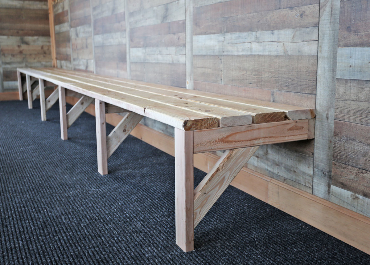 Ana white easy mudroom benches or locker room benches diy projects