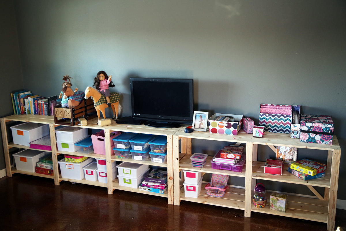 cheap wood shelving