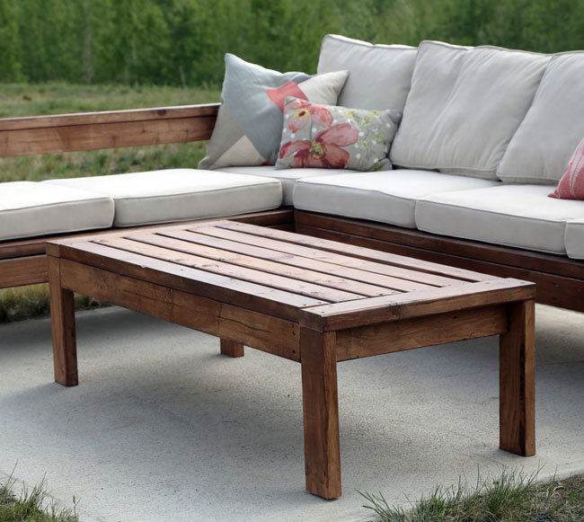 Ana white 2x4 outdoor coffee table diy projects Patio coffee tables