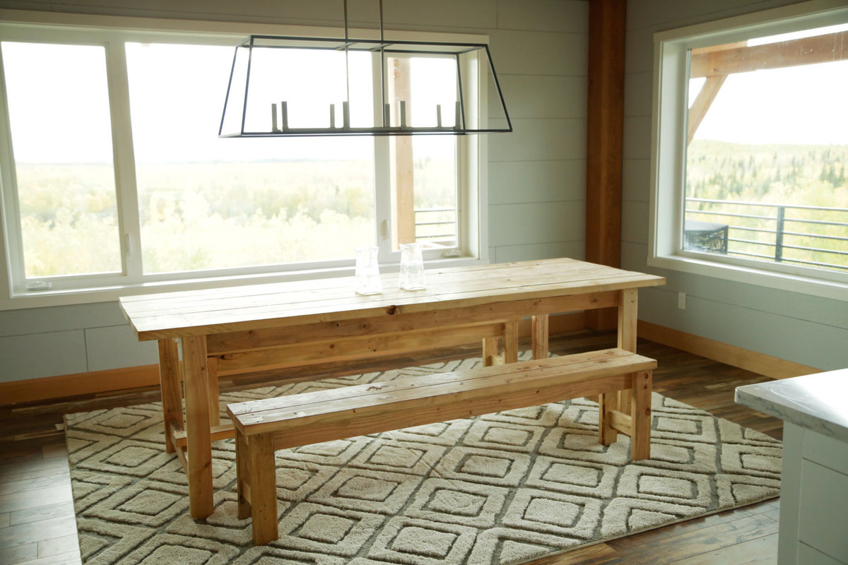 The Easiest Rustic Dining Table That You Can Build Perfect Beginner Farm Plans By Ana White