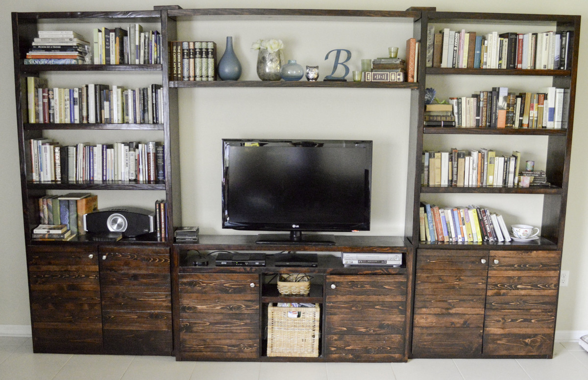 Ana White Lack Inspired Entertainment Center Diy Projects