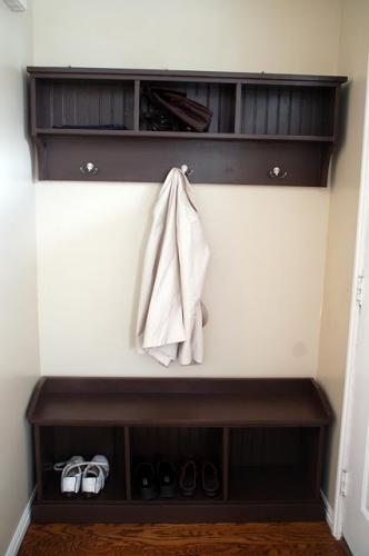Entryway storage bench coat rack plans woodguides Entryway bench and shelf