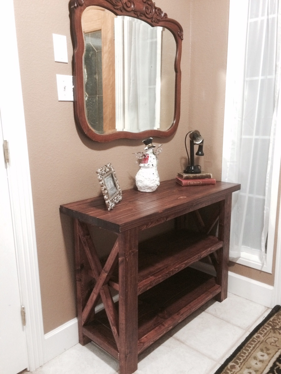 ana white entry table diy projects - Entry Table