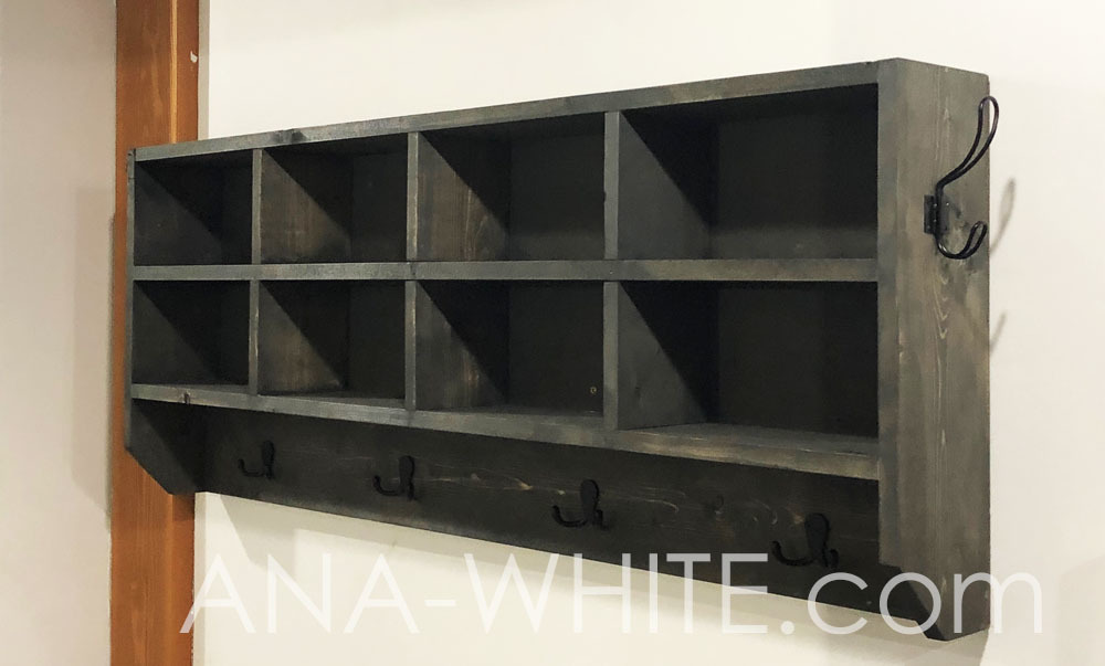 Awesome Cubby Organizer With Hooks Ana White Home Remodeling Inspirations Cosmcuboardxyz