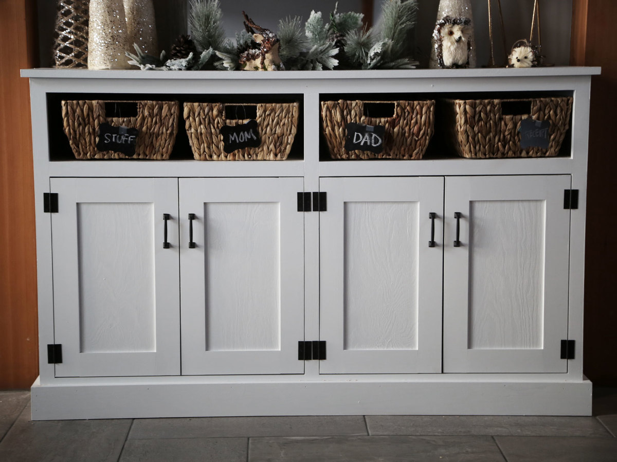 Foyer Console Images : Ana white entryway console with open shelves double