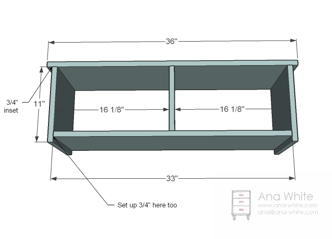 Permalink to free entryway storage bench plans
