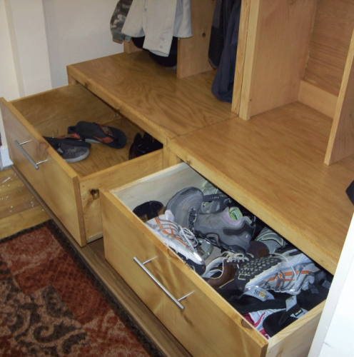 Mudroom Storage Drawers : Ana white braden entryway drawer bench diy projects
