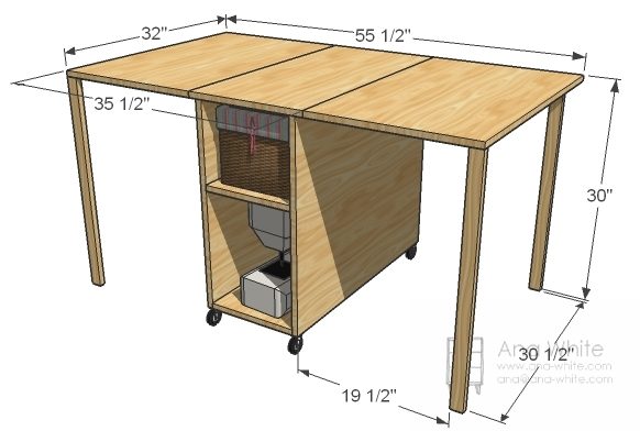 A Sewing Table For Small Spaces Ana White