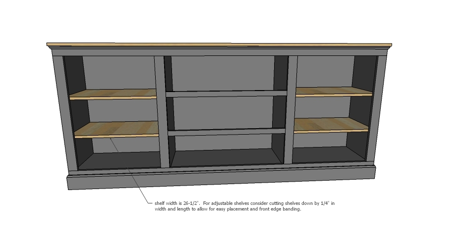 Ana White | Extra Long Buffet Cabinet - DIY Projects