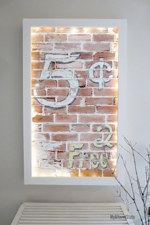 Wall Decor The Brick : Ana white faux brick wall art diy projects