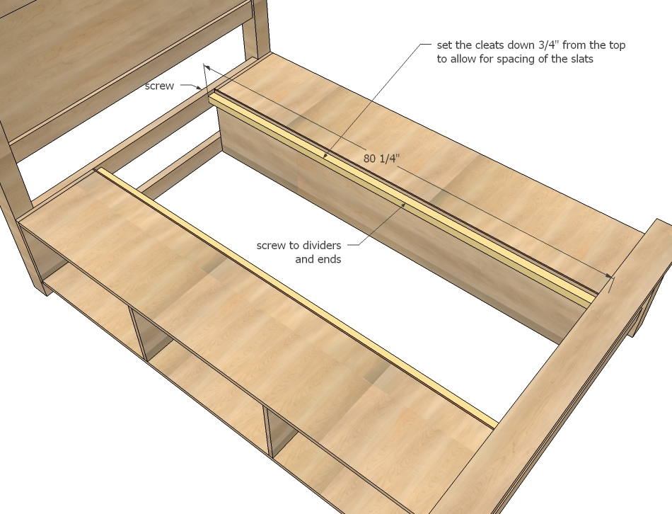 Woodwork platform bed frame plansstorage pdf plans - Build your own king size platform bed ...