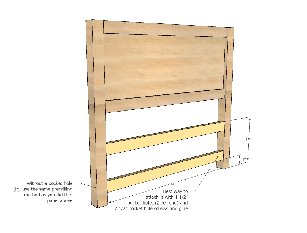Bed with Storage Drawers Plans 1044 x 794