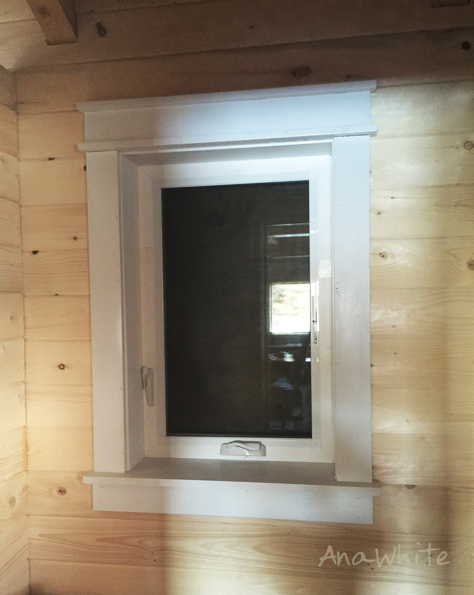 Ana White Farmhouse Style Window Trim From Pine Boards Diy Projects