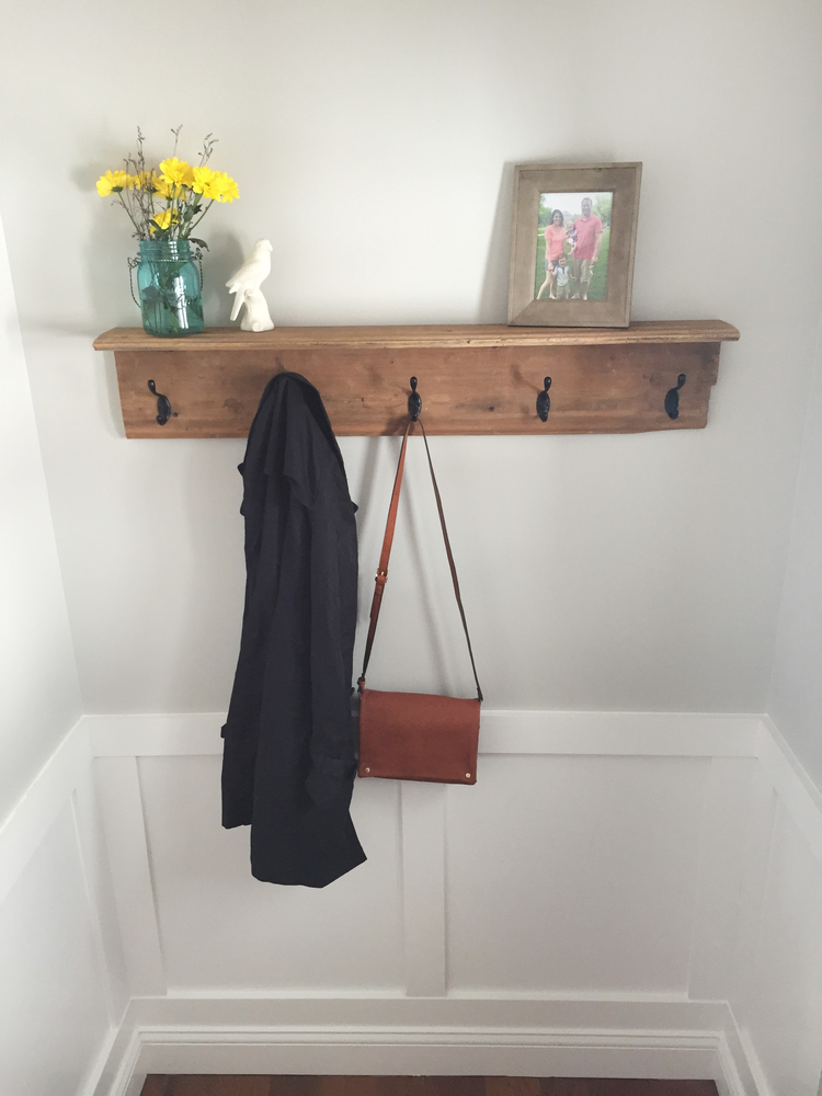Ana White How To Make A Farmhouse Coat Rack Diy Projects
