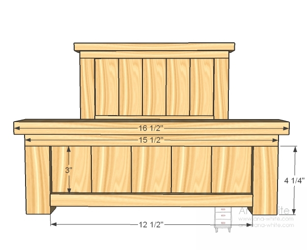 ana white  doll farmhouse bed  diy projects, Headboard designs