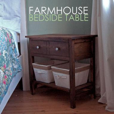 ana white | farmhouse bedside table - diy projects Large Nightstands