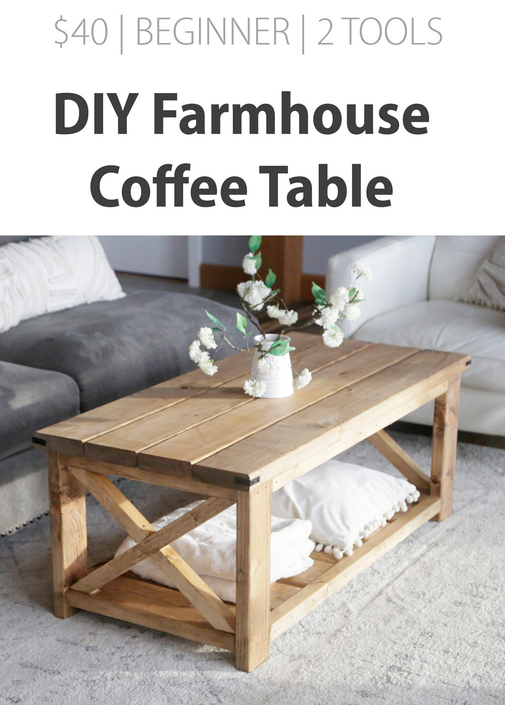 Farmhouse Coffee Table Beginner Under 40 Ana White