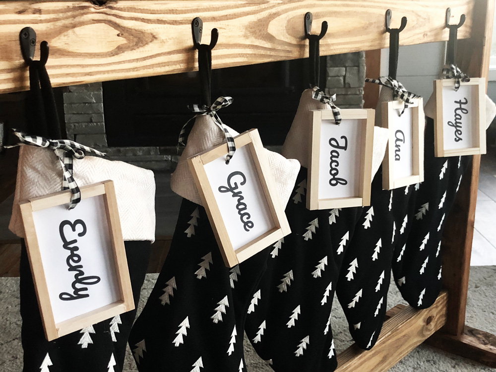 stocking name tags for personalized stockings