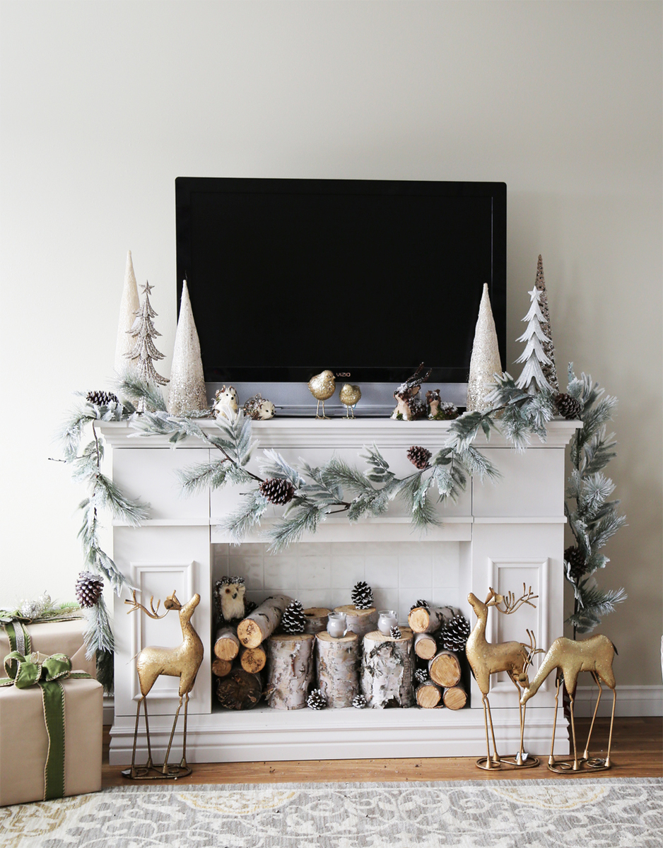 Brilliant Faux Fireplace Mantle With Hidden Storage Cabinets Ana White Home Interior And Landscaping Ologienasavecom