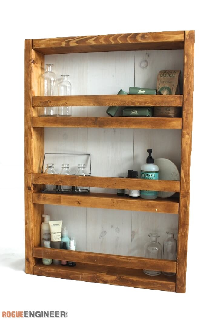 Ana White | Apothecary Wall Shelf Featuring Rogue Engineer - DIY Projects