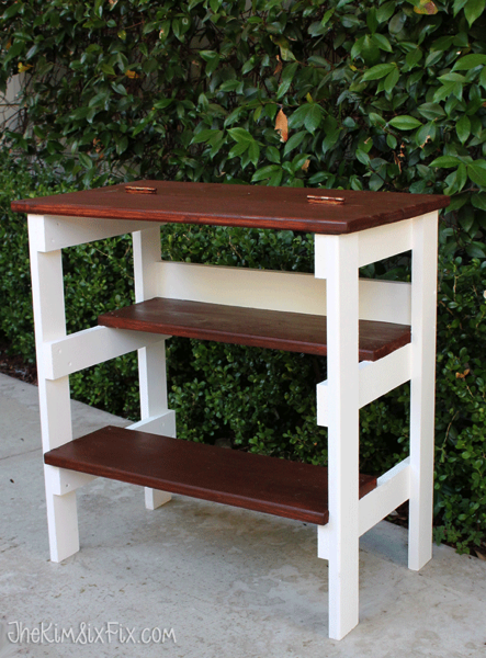 Hinged Table Top With Built In Step Stool Featuring The