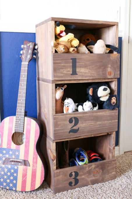 DIY Stacking Storage Cubbies Featuring Addicted 2 DIY