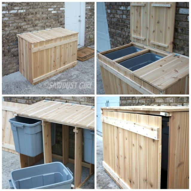 Ana White Diy Recycling Sorter Featuring Sawdust Girl