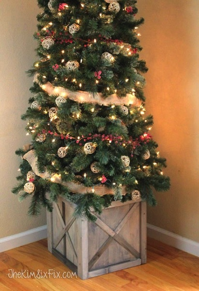 diy scrap wood crate christmas tree stand featuring the kim six fix - Cheap Christmas Tree Stands