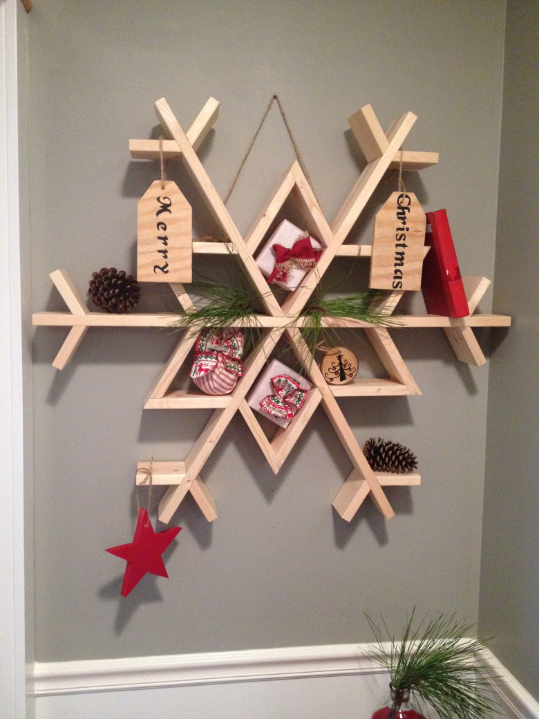 Ana white snowflake shelf featuring chasing a dream