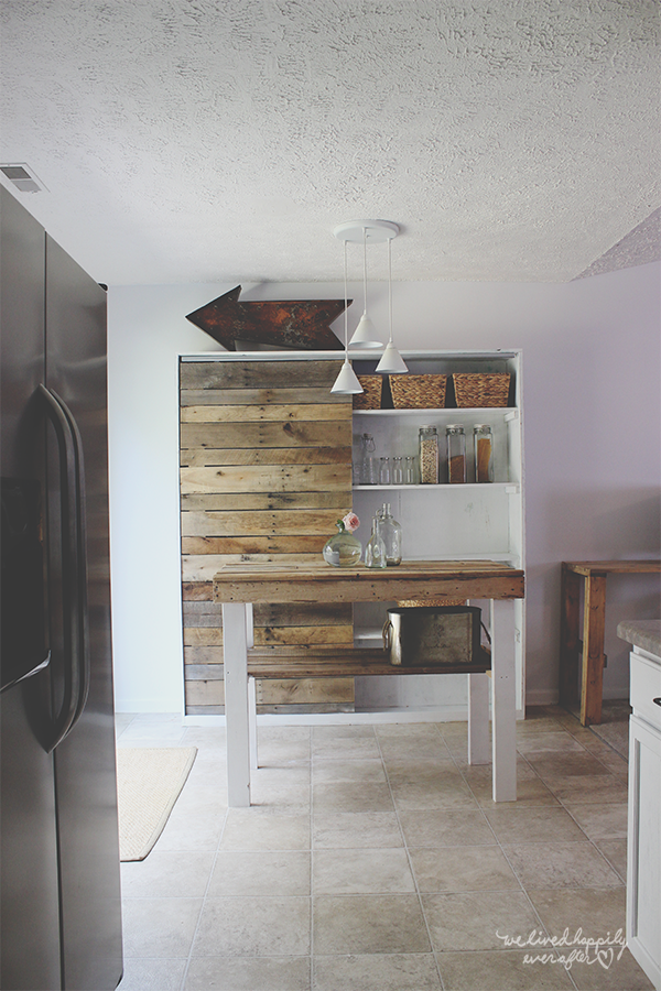 Rustic Farm Hutch with Sliding Pallet Barn Door Featuring We Lived