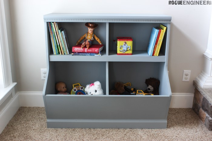 Ana White Bookcase Toy Storage Featuring Rogue Engineer