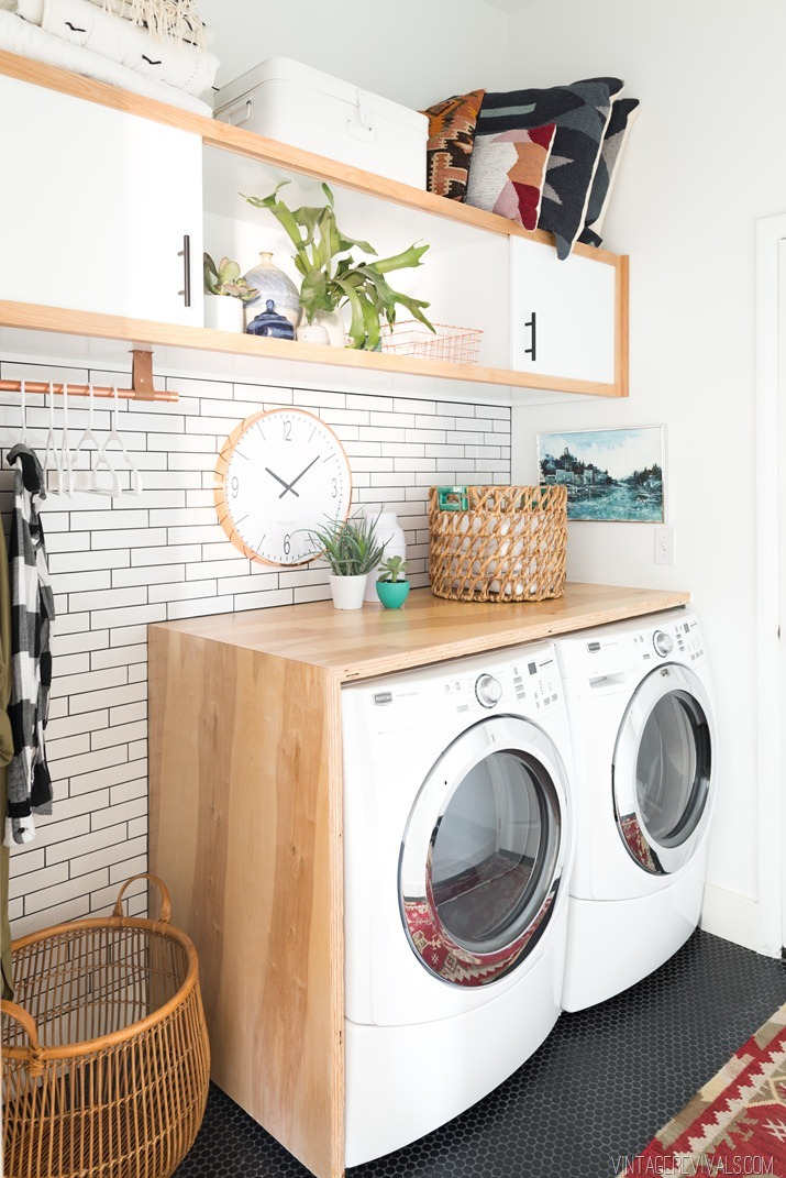 Attractive Laundry Room Counters Part - 10: DIY Plywood Counter Top For The Laundry Room - Featuring Vintage Revivals