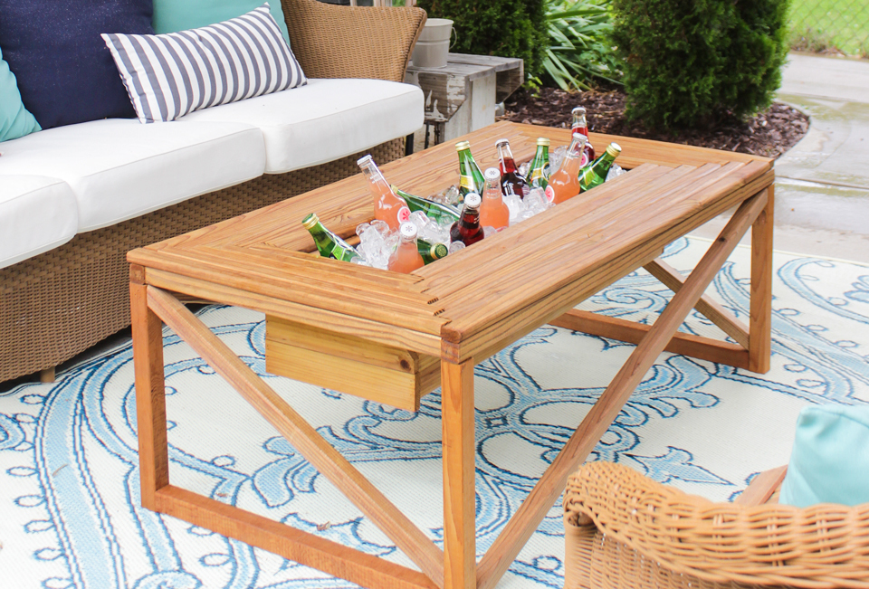 ana white outdoor coffee table with beverage cooler