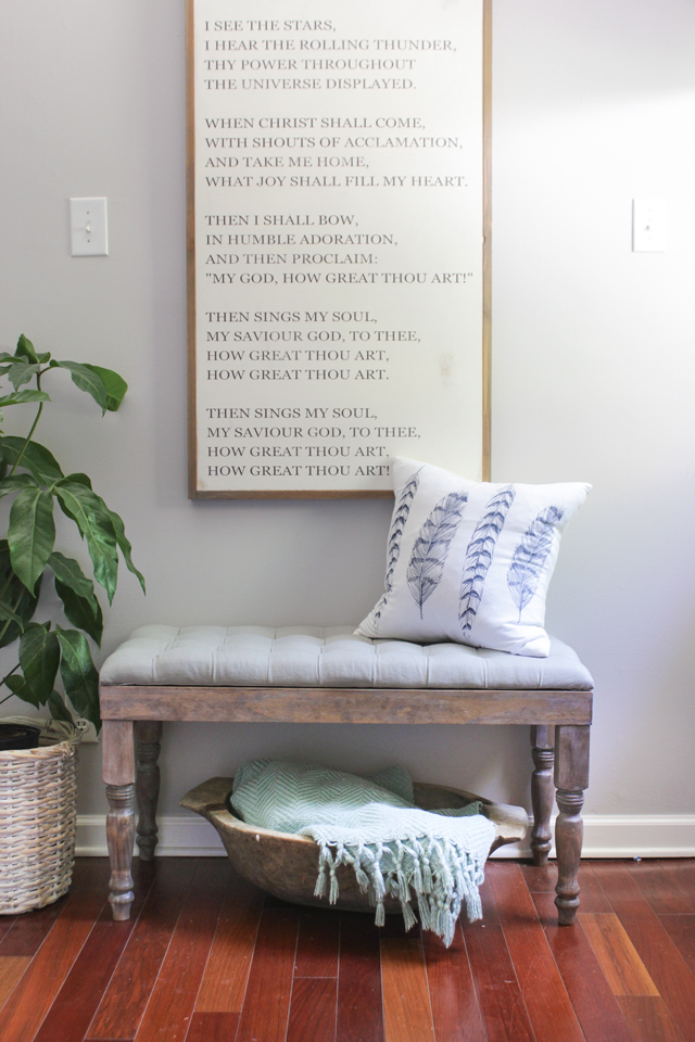 DIY Tufted Bench With Storage